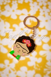 Sass and Belle 29081 Boho Fiesta Frida Kahlo Key Chain 20190111 014W