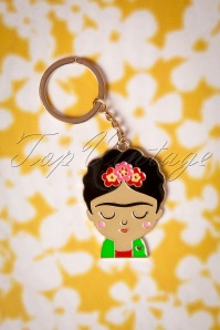 Sass and Belle 29081 Boho fiesta Frida Kahlo Key Chain 01W