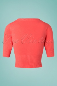 Banned 28560 Overload Cardigan in Coral 20181218 006W