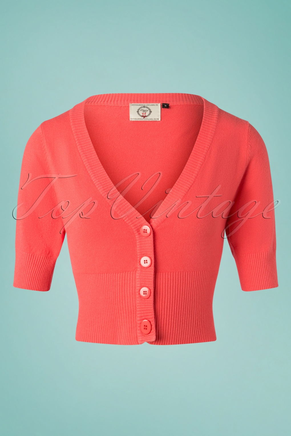 Authentic Natural 1950s Makeup History and Tutorial 50s Overload Cardigan in Coral £26.73 AT vintagedancer.com