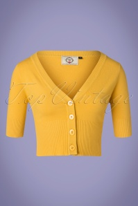 Banned Retro 50s Overload Cardigan in Mustard