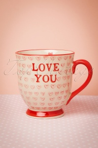 50s Love You Valentines Mug