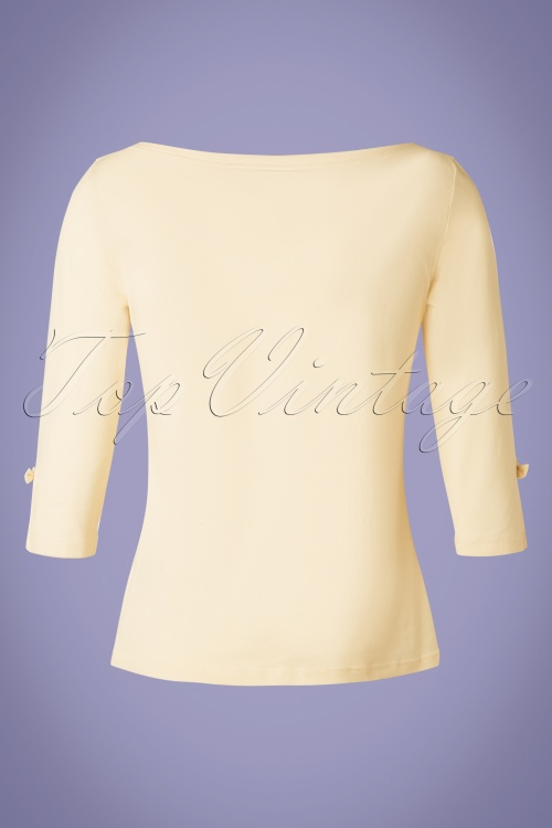 Banned 28555 50s Oonagh Top in Cream 20181218 006W