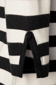 Banned 28574 50s Sail Away Stripes Jumper in Black 20181219 003