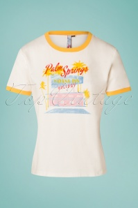 50s Palm Springs T-Shirt in Cream