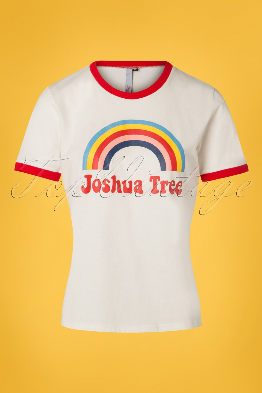 Women's 70s Shirts, Blouses, Hippie Tops 70s Joshua Tree T-Shirt in Cream £21.38 AT vintagedancer.com