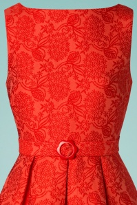 Banned 28528 Red Jacquard Dress 20190111 002V