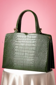 Banned Retro 50s Indiscreet Bag in Green