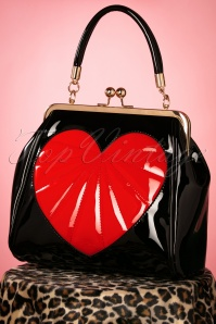 Banned Retro 50s Heartbreaker Bag in Black
