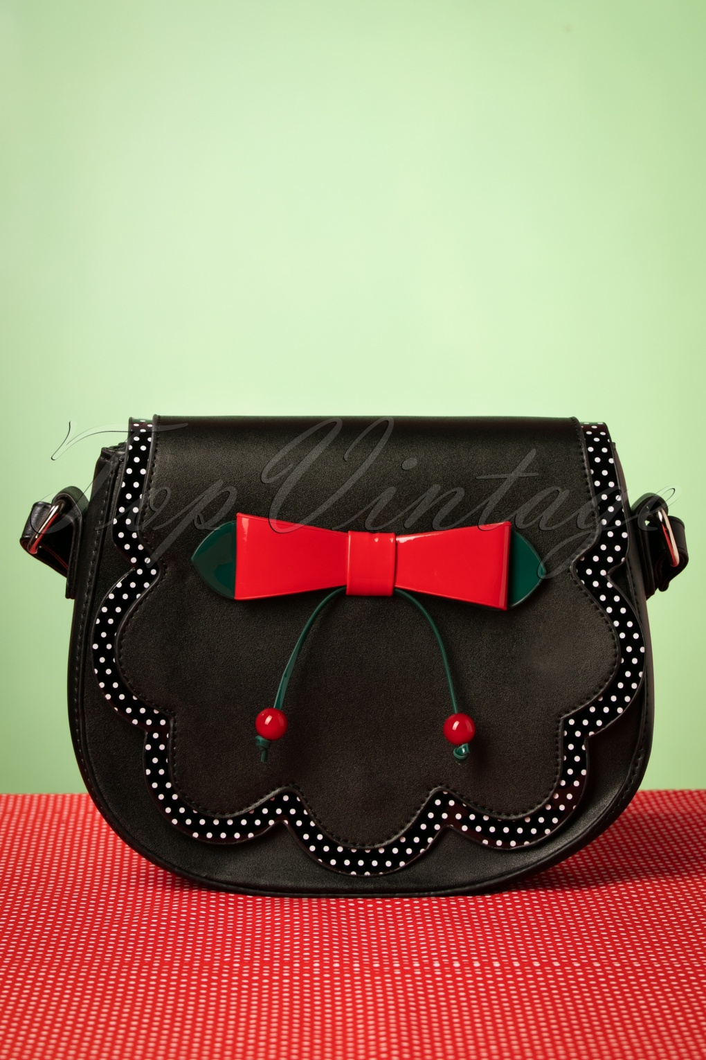 1950s Handbags, Purses, and Evening Bag Styles 50s Marilou Bag in Black £32.63 AT vintagedancer.com