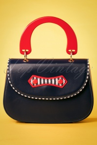 50s Boats Against The Current Bag in Red and Navy