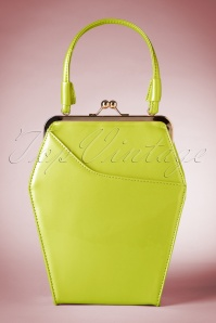 50s To Die For Handbag In Lime
