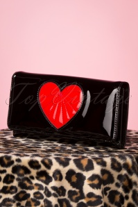Banned 28291 Heart Black Red Wallet 20190114 017W