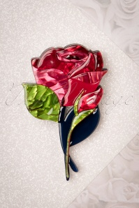60s Budding Romance Rose Brooch