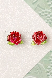 Erstwilder Juliet Blooms Rose Earrings Années 60