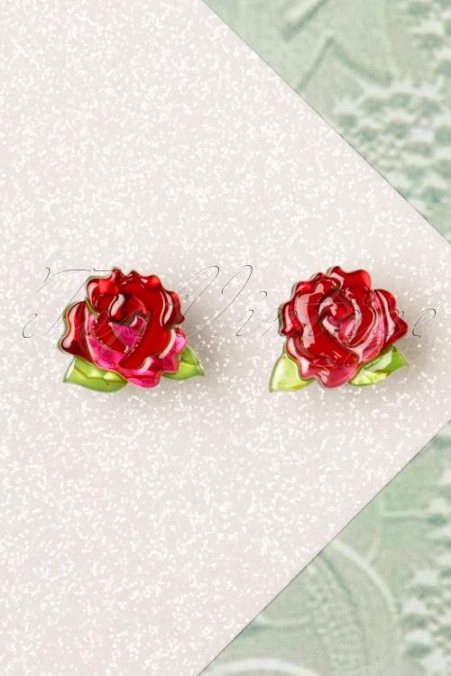 Erstwilder 29070 Earrings Juliet Blooms Rose 20190114 006W