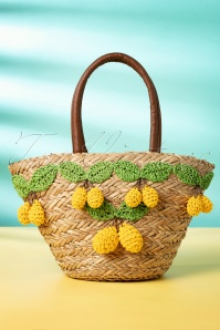 Amici 50s Limon Basket Wicker Bag in Natural