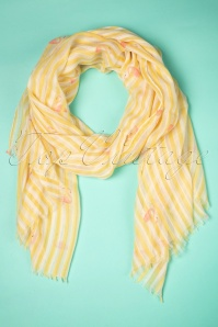 Amici 50s Selina Flamingo Scarf in Yellow