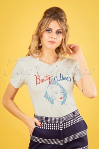 50s Beauty Culture T-Shirt in Off White