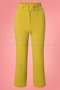 King Louie 27158 Cress yellow Jenny Pants Tribeca 20181123 002W