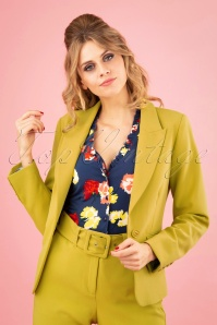 60s Daisy Tribeca Blazer in Cress Yellow