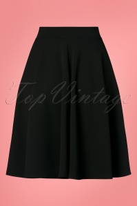Vintage Chic 28734 Swing Skirt in Black 20190117 004W