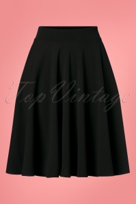 Vintage Chic for TopVintage 50s Julie Swing Skirt in Black