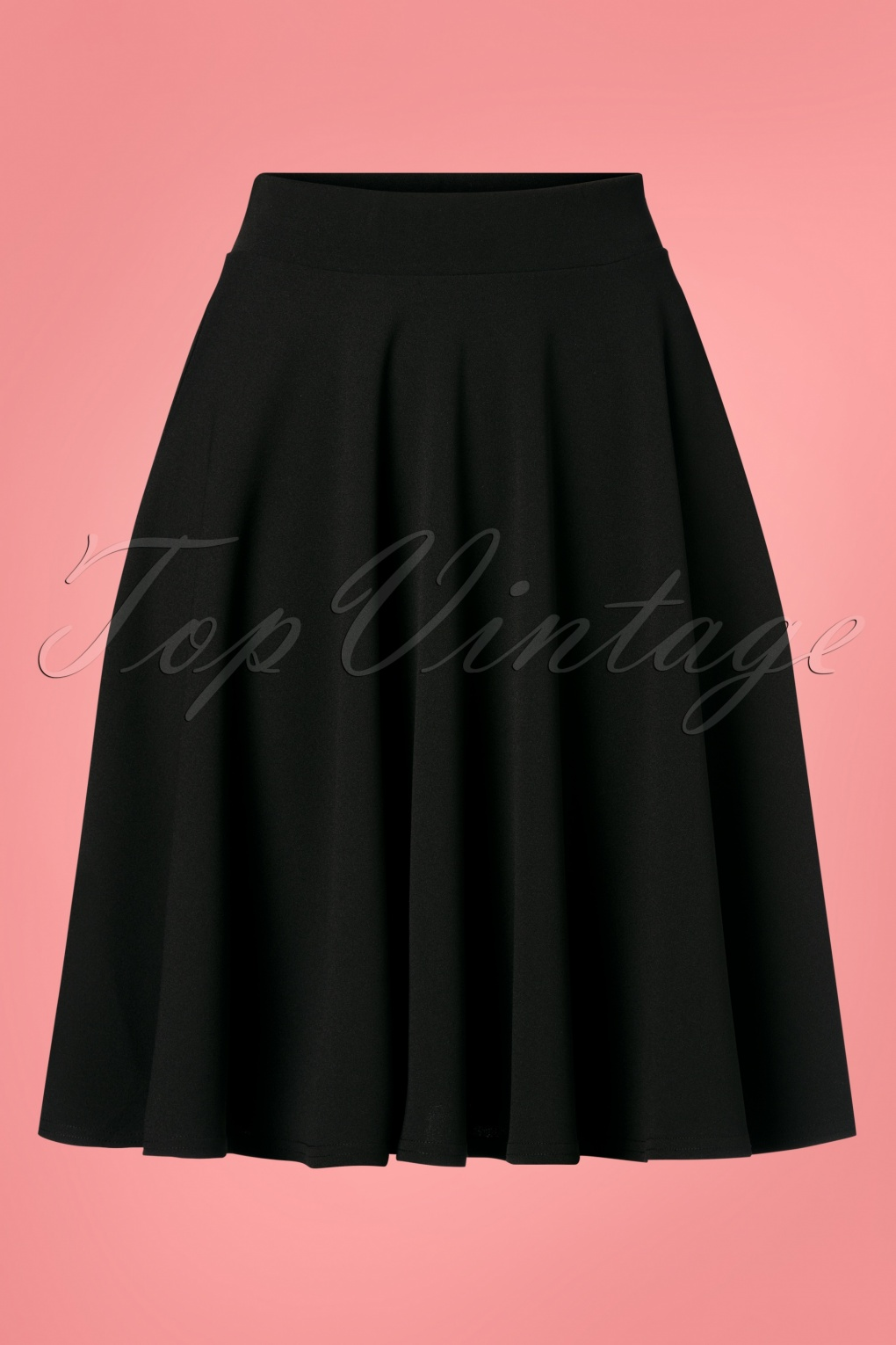 50s Skirt Styles | Poodle Skirts, Circle Skirts, Pencil Skirts 50s Julie Swing Skirt in Black £33.15 AT vintagedancer.com