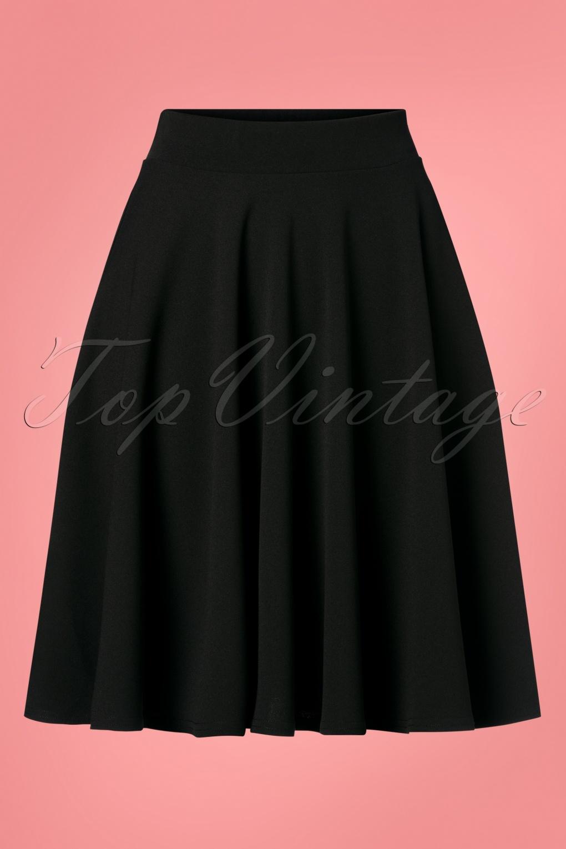 50s Dresses UK | 1950s Dresses, Shoes & Clothing Shops 50s Julie Swing Skirt in Black £33.15 AT vintagedancer.com