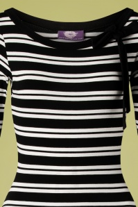 TopVintage Boutique Collection 28789 Black and White Striped Dress 20190117 004B