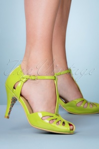 Banned 26922 Olive T Strap Green Pump 20190111 029W