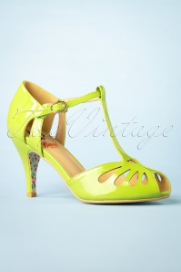 40s Secret Love Sandals in Apple Green