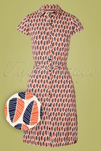 4FunkyFlavours 60s Instant Love Dress in Cream