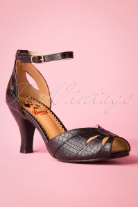 50s Indescreet Sandals in Black