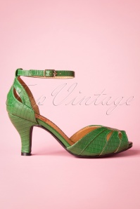Banned 26931 Green Peeptoe Pump 20190114 014W