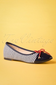 Banned 26936 Navy Ballerina Blue White Red Striped 20190114 016W