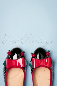 Banned 26938 Polkadot Ballerina Cherry Red Black White 20190114 011W