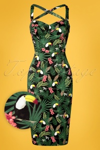 Collectif Clothing 27413 Kiana Tropicalia Dress FrontW1