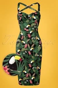Collectif Clothing 27413 Kiana Tropicalia Dress FrontW1