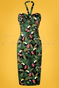 Collectif Clothing 27413 Kiana Tropicalia Dress Front 3W