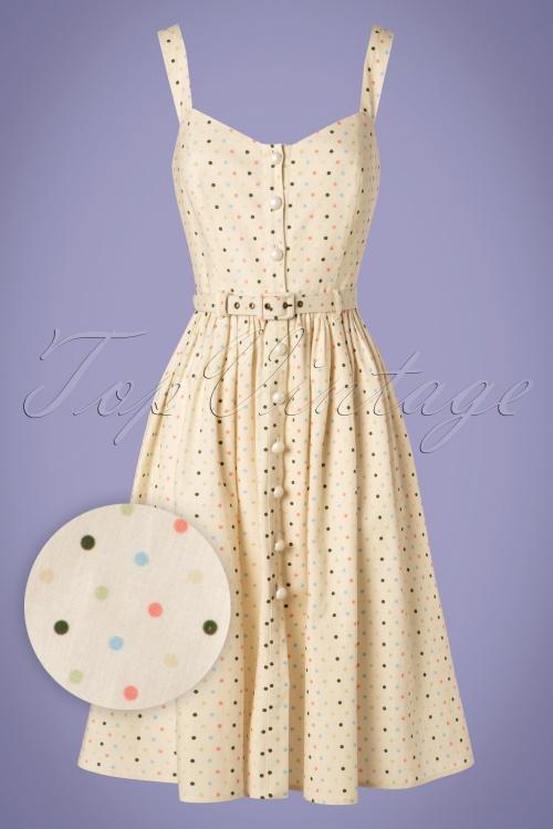 Collectif Clothing 27466 Jemima Polkadot Swing Dress 20180814 2W1