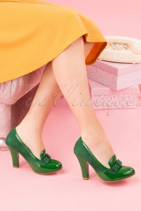 Topvintage Boutique 28397 June Pump in Green 20190115 001W