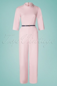 Closet London 29034 Funnel Collar Pink Jumpsuit 20190121 005W
