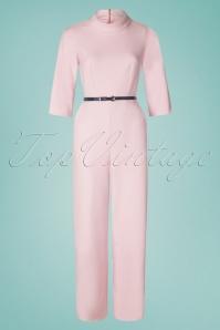 Closet London 29034 Funnel Collar Pink Jumpsuit 20190121 005W