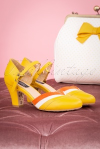 Topvintage Boutique 28401 Ava Mary Jane Pump in Yellow 20190115 091W