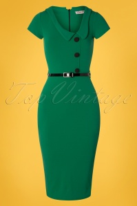 Vintage Chic for TopVintage 50s Lynne Pencil Dress in Emerald Green