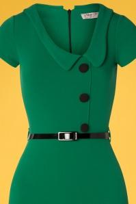 Vintage Chic 28724 Short Sleeve Emerald Green Dress 20190121 004V