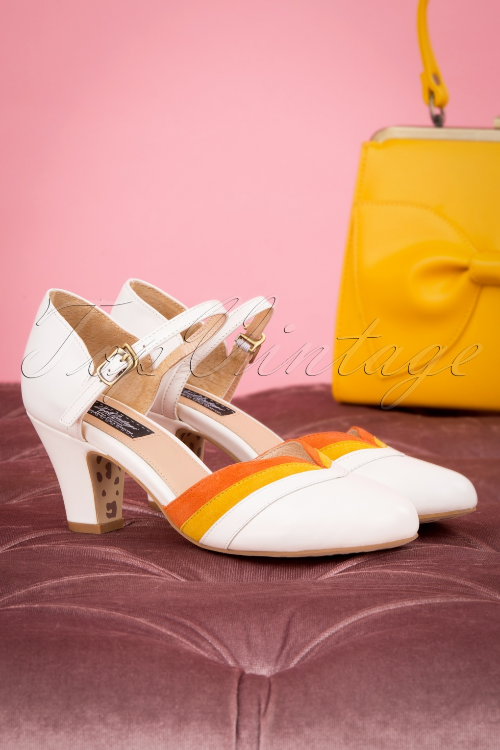 1960s Style Dresses, Clothing, Shoes UK 60s Ava Walking On Sunshine Pumps in Cream £103.85 AT vintagedancer.com