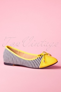 Banned 26937 Yellow Ballerina Striped Blue White 20190114 022W