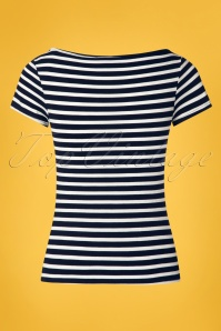 TopVintage Boutique Collection 28790 Navy Stripe Top 20190122 004W